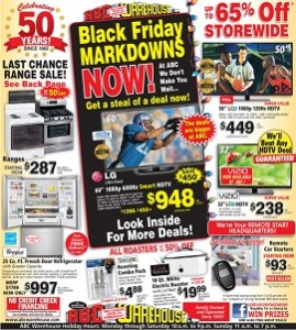 ABC Warehouse Black Friday Early Deals 2013