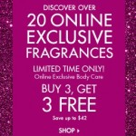 Bath and Body Works pre-Cyber Monday 2013 Sales. 20 Online Exclusive Flagrances
