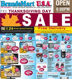 Brandsmart pre Thanksgiving Day Sale, November 24 - November 27, 2013