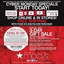 Macy S Cyber Monday Deals 2013 Sleepwear Dresses Boots Or Bags Sale