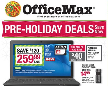 Office Max Early Cyber Monday Deals 2013