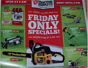 Tractor Supply Early Cyber Monday 2013 Deals