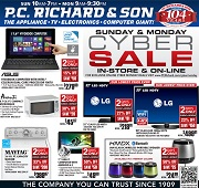 How to use a P.C. Richard & Son coupon You can shop online and in-store for deals on appliances, electronics, cameras, and computers at P.C. Richard & Son. Signing up for email alerts on sales and special offers enters you to win a store gift card. P.C. Richard & Son has a weekly sales ad and online promotions, as well as seasonal deals%(28).