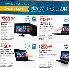 Costco Cyber Monday 2014 Deals Dell Inspiron 15