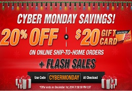 Autozone Cyber Monday 2014 20 Off And Flash Sales