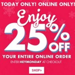 Bath & Body Works Cyber Monday 2014 Deals – 25% OFF Entire Online Order
