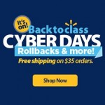 Walmart Cyber Days 2015 – Back to Class Deals & Promotions