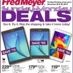 Fred Meyer Cyber Monday Sale 2016
