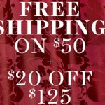Victoria's Secret Cyber Monday 2015 Sale. $20 off $125